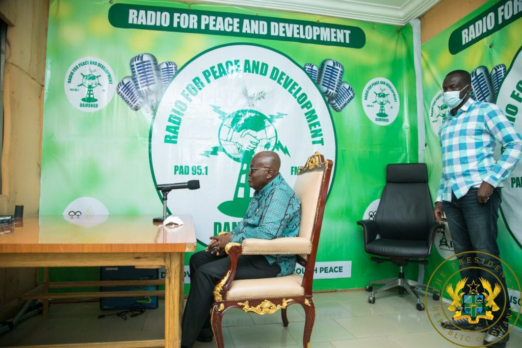 President Nana Addo Sends His Presidential Chair To a radio interview in the Northern Region